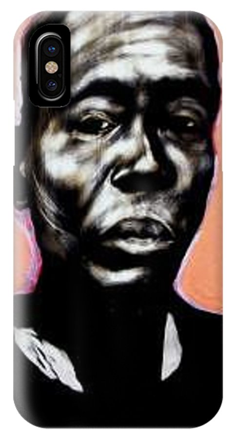 Portrait IPhone X Case featuring the mixed media Kewam by Chester Elmore