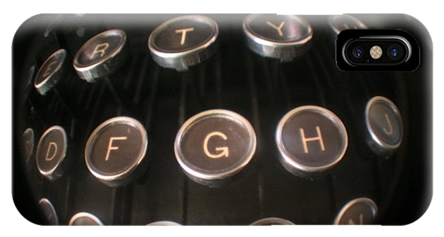 Typewriter IPhone X Case featuring the photograph Key To Communication by Jeffery Ball