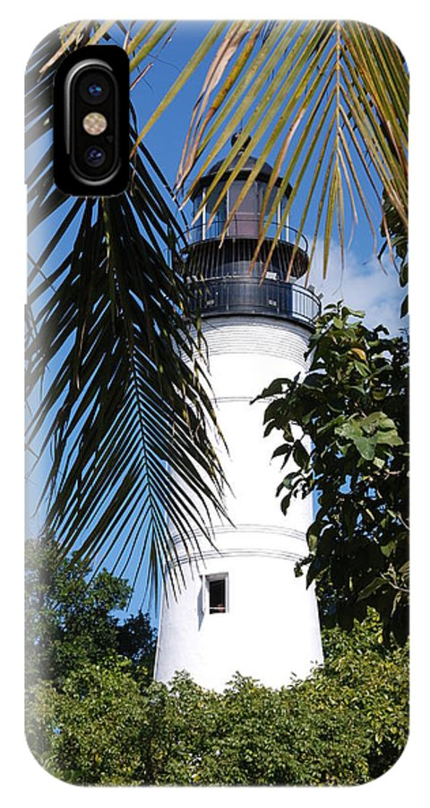 Lighthouse IPhone X Case featuring the photograph Key West Lighthouse by Susanne Van Hulst