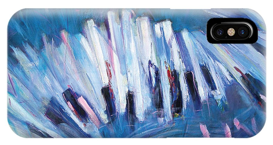 Piano IPhone Case featuring the painting Keys by Jude Lobe