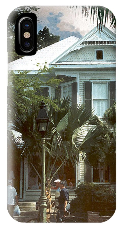 Historic IPhone X Case featuring the photograph Keywest by Steve Karol