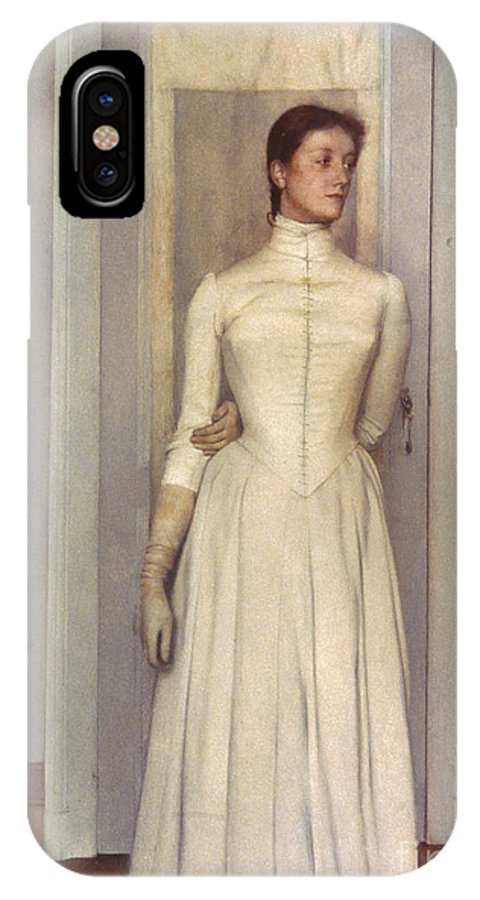 1887 IPhone X Case featuring the photograph Khnopff: Sister, 1887 by Granger