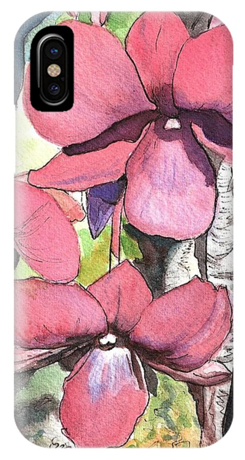 Orchid IPhone Case featuring the painting Kiahuna Orchids by Marionette Taboniar