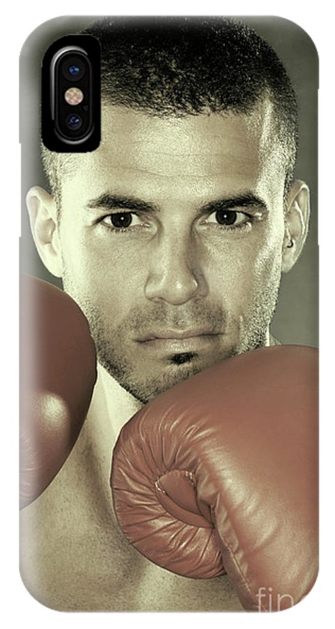 Kickboxer IPhone X Case featuring the photograph Kickboxer by Oleksiy Maksymenko