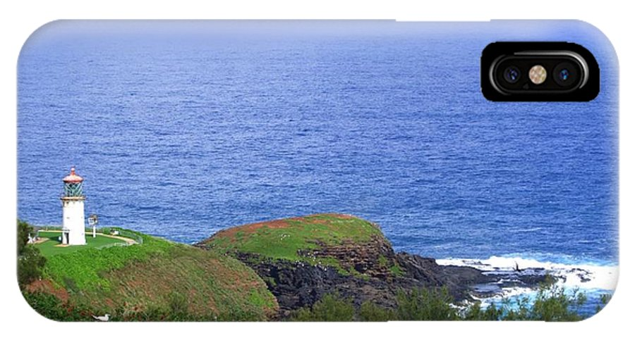 Lighthouse IPhone X Case featuring the photograph Kilauea Lighthouse by Mary Deal