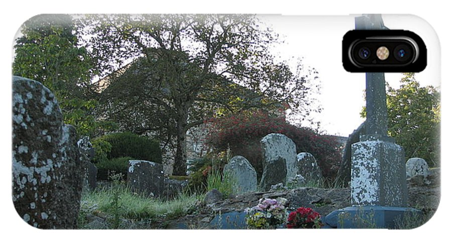 Graveyard IPhone X Case featuring the photograph Kilmokea Graveyard by Kelly Mezzapelle