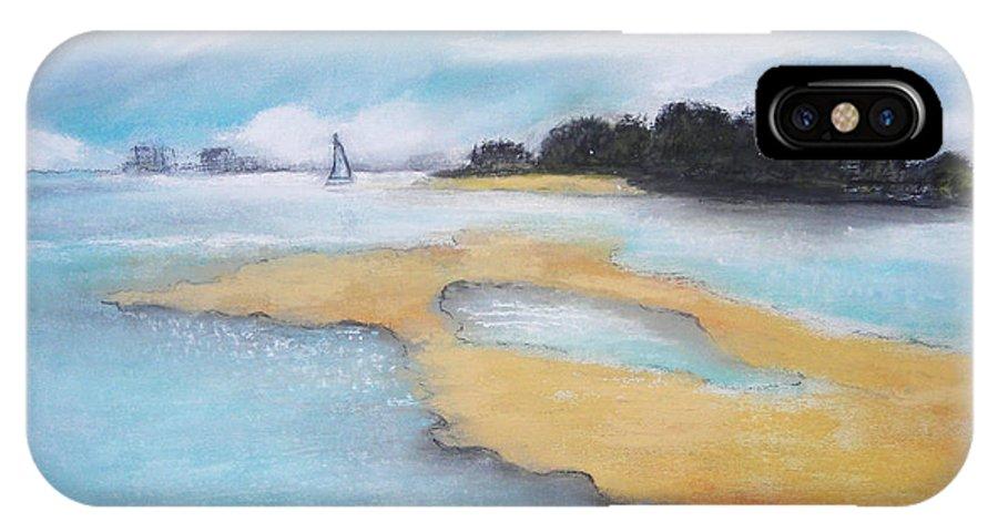 Seascape IPhone X Case featuring the pastel King Island by Gloria Dietz-Kiebron