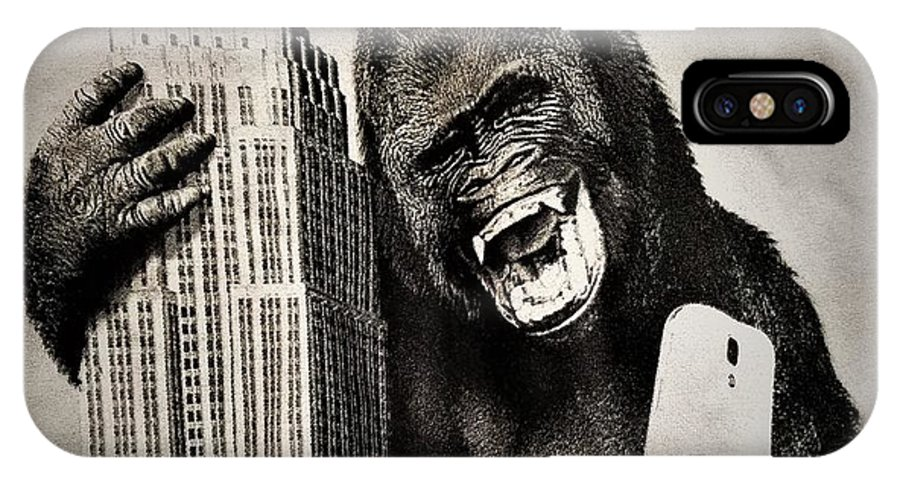 Architecture IPhone X Case featuring the photograph King Kong Selfie by Rob Hans