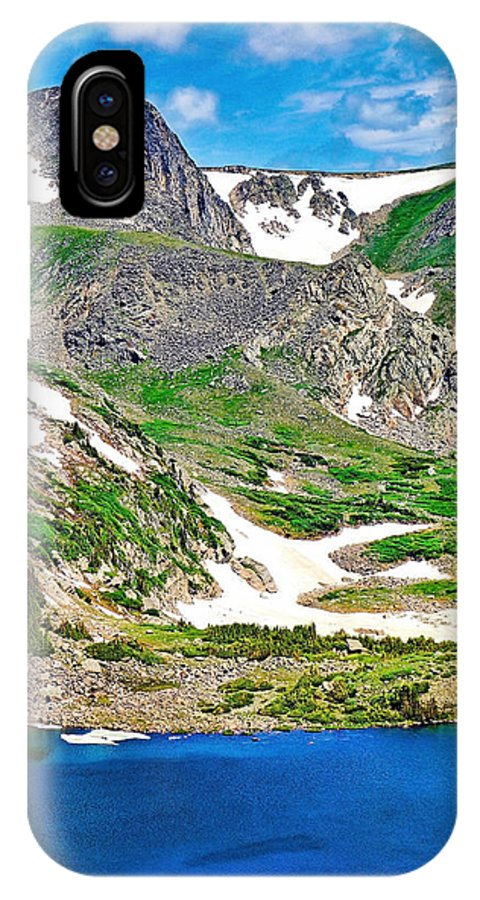 King Lake IPhone X Case featuring the photograph King Lake At Rollins Pass T by Robert Meyers-Lussier