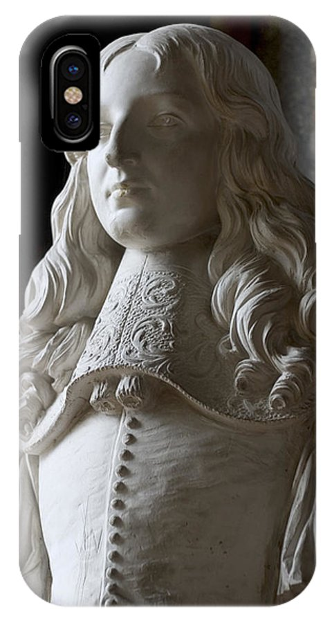 Boy IPhone X Case featuring the photograph King Louis Xiv by Carl Purcell