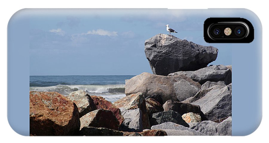 Beach IPhone Case featuring the photograph King Of The Rocks by Margie Wildblood