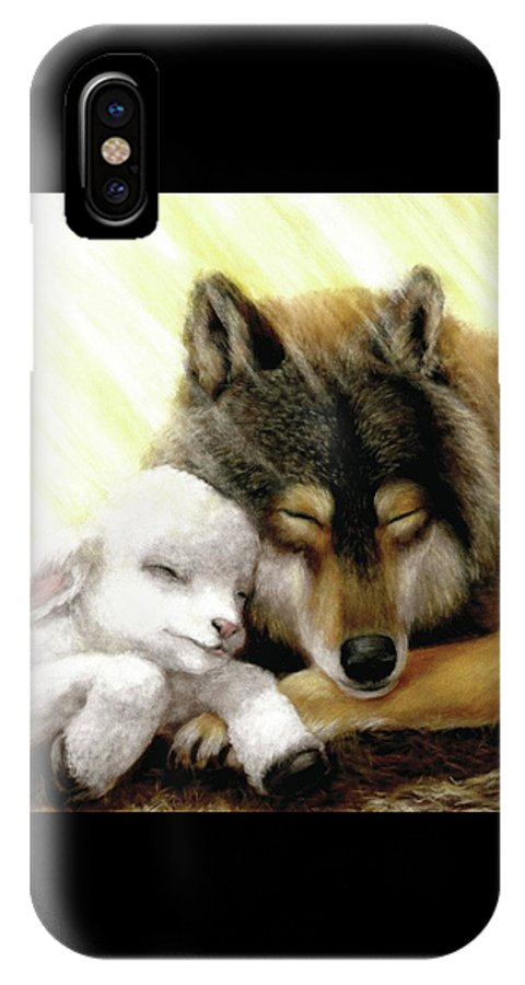 Wolf & Lamb IPhone X Case featuring the pastel Kingdom Peace by Gale Smith