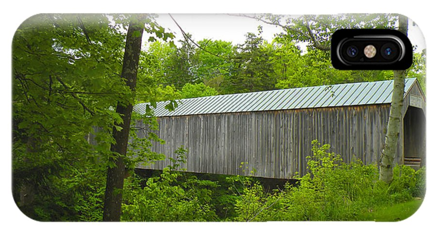 Bridge IPhone X Case featuring the photograph Kingsley Covered Bridge by Rosalie Scanlon