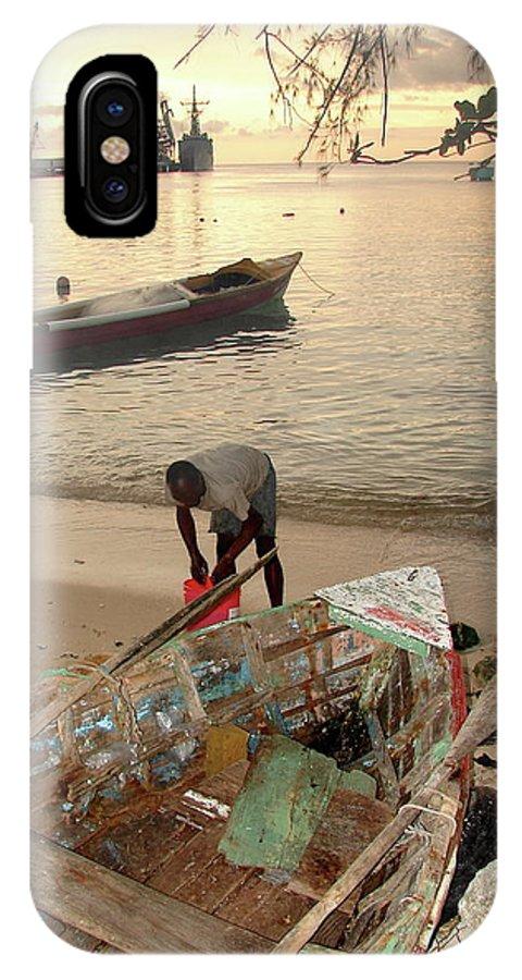 Kingston IPhone X Case featuring the photograph Kingston Jamaica Beach by Brett Winn