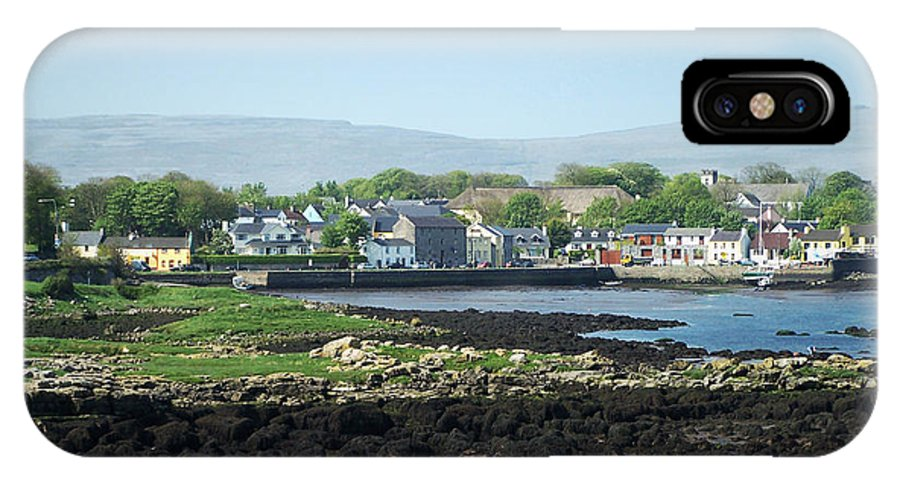Irish IPhone X Case featuring the photograph Kinvara Seaside Village Galway Ireland by Teresa Mucha