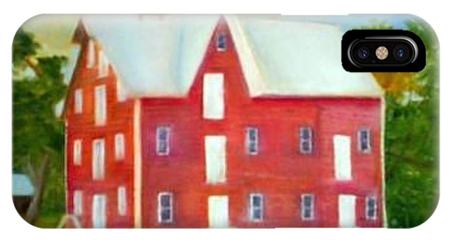 Kirby Mill IPhone X Case featuring the painting Kirby's Mil by Sheila Mashaw