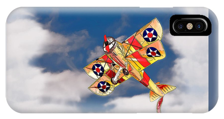 Airplane IPhone X / XS Case featuring the digital art Kite Dreams by Patricia Stalter
