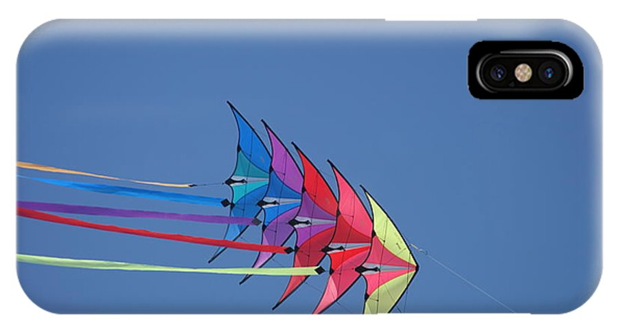 Wind IPhone X Case featuring the photograph Kite by Heidi Poulin