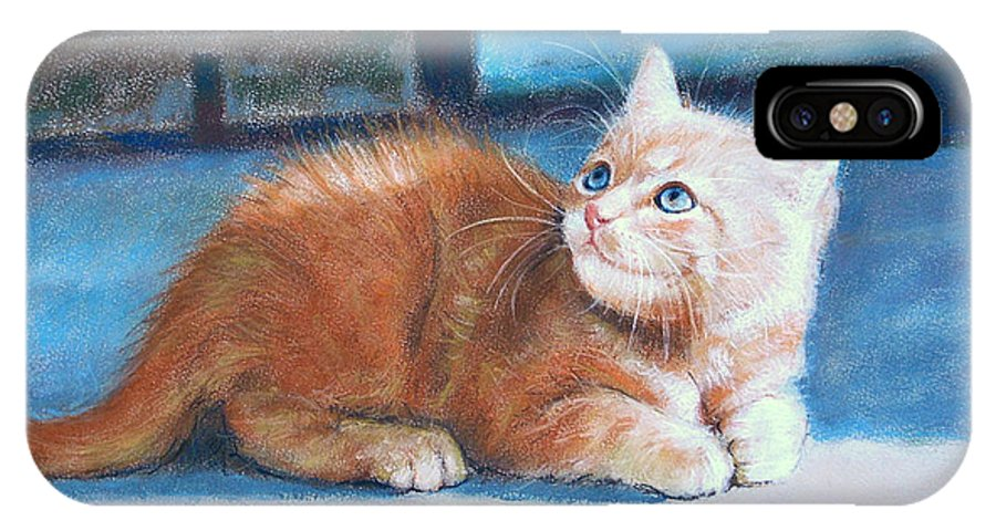 Cats IPhone Case featuring the painting Kitten by Iliyan Bozhanov