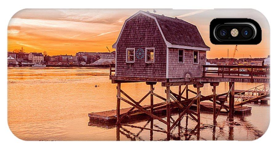 Sunset IPhone X Case featuring the photograph Kittery Maine Harbor Sunset by Edward Fielding