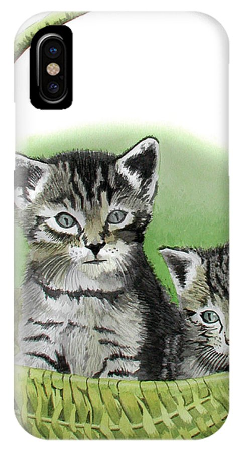 Cat IPhone Case featuring the painting Kitty Caddy by Ferrel Cordle