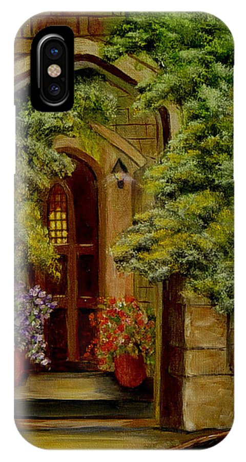 Door IPhone Case featuring the painting Knight's Door by Quwatha Valentine
