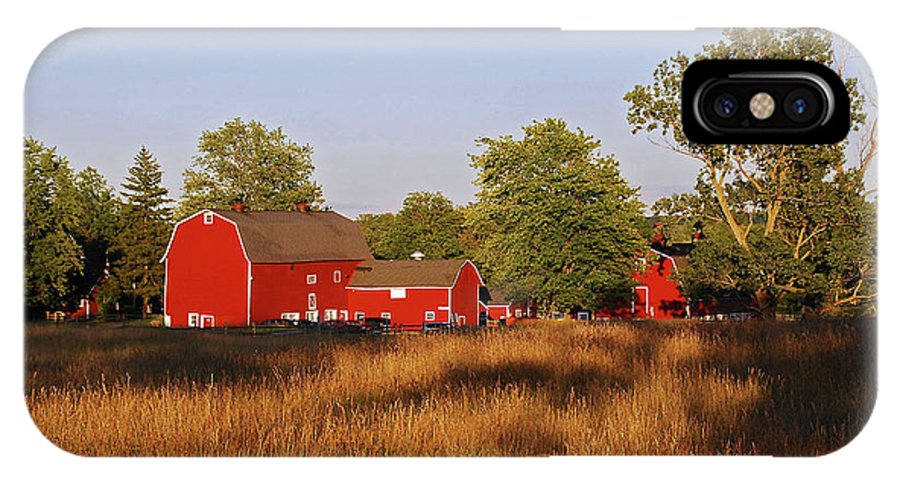 Barn IPhone X Case featuring the photograph Knox Farm 5194 by Guy Whiteley