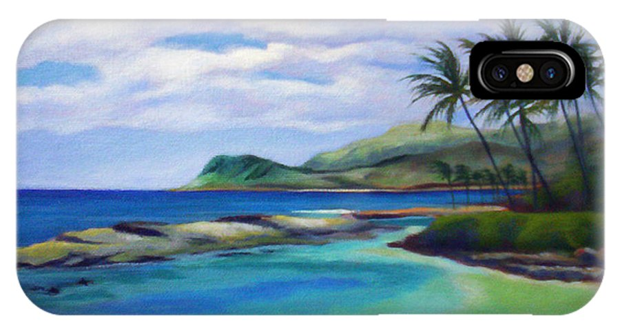 Koolina IPhone X Case featuring the painting Ko Olina Afternoon by Angela Treat Lyon