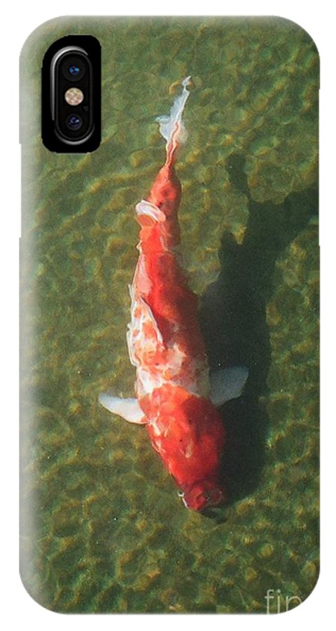 Koi IPhone X Case featuring the photograph Koi by Dean Triolo