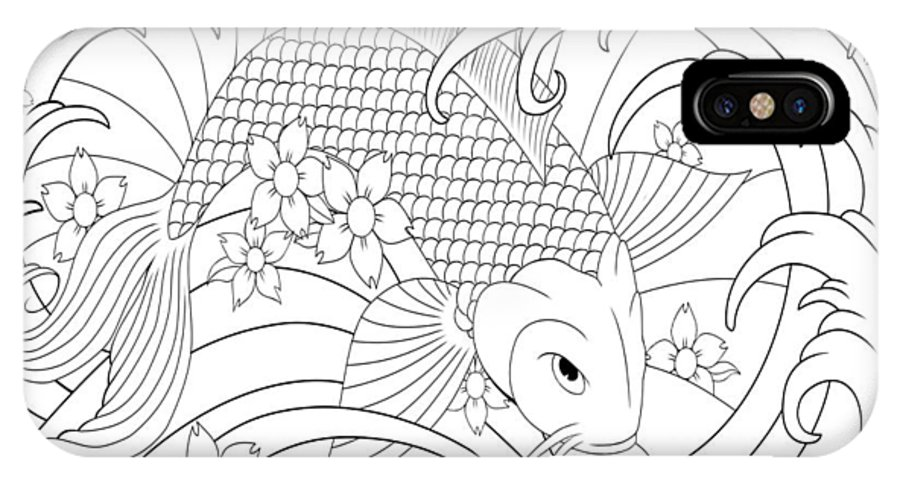 KOI Fish coloring pages for adults. Free Printable KOI Fish ... | 316x592
