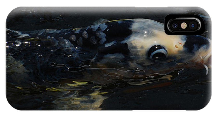 Koi IPhone X Case featuring the photograph Koi by Jean Booth