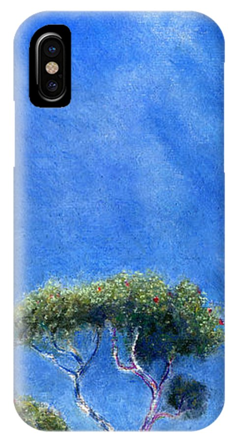 Rainbow Colors Pastel IPhone Case featuring the painting Kokee Trees by Kenneth Grzesik