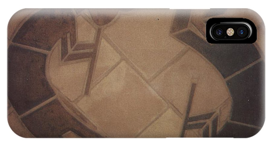 Tile IPhone Case featuring the relief kokopelli Hand cut Tiles by Patrick Trotter