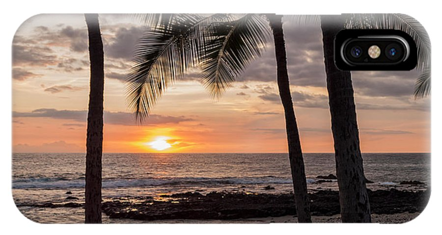 Kona Big Island Hawaii Beach Ocean Sunset IPhone X Case featuring the photograph Kona Sunset by Brian Harig