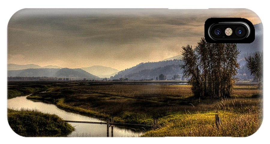 Scenic IPhone X Case featuring the photograph Kootenai Wildlife Refuge In Hdr by Lee Santa
