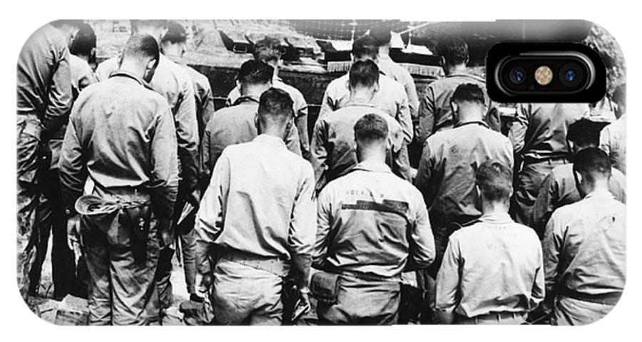 1952 IPhone X Case featuring the photograph Korean War: Church Service by Granger