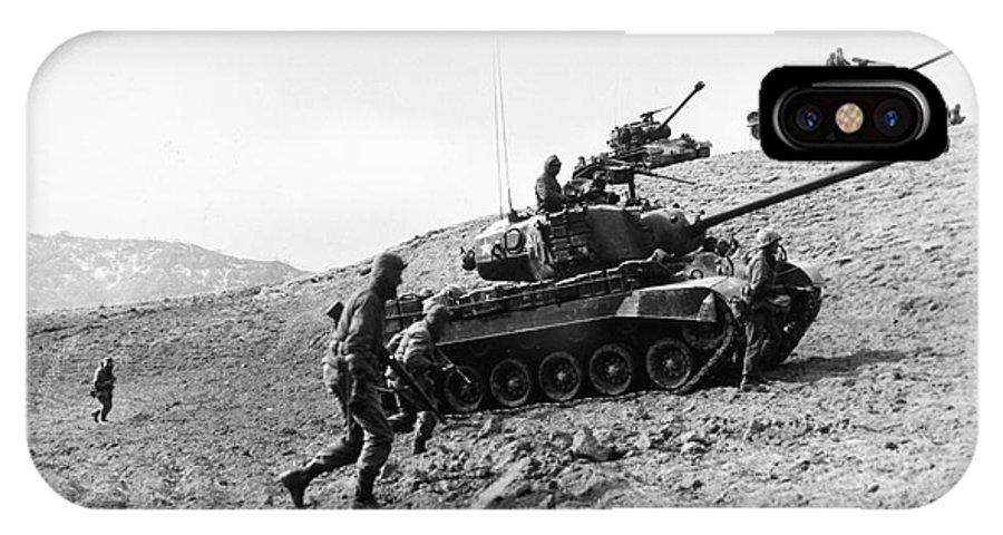 1952 IPhone X Case featuring the photograph Korean War: Infantrymen by Granger