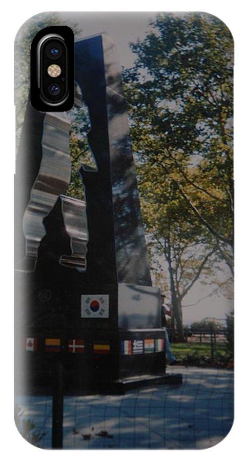 Korea IPhone X Case featuring the photograph Korean War Memorial by Rob Hans