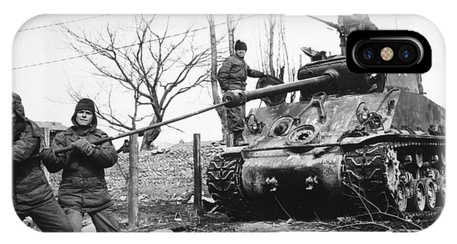 1951 IPhone X Case featuring the photograph Korean War: Tank, 1951 by Granger
