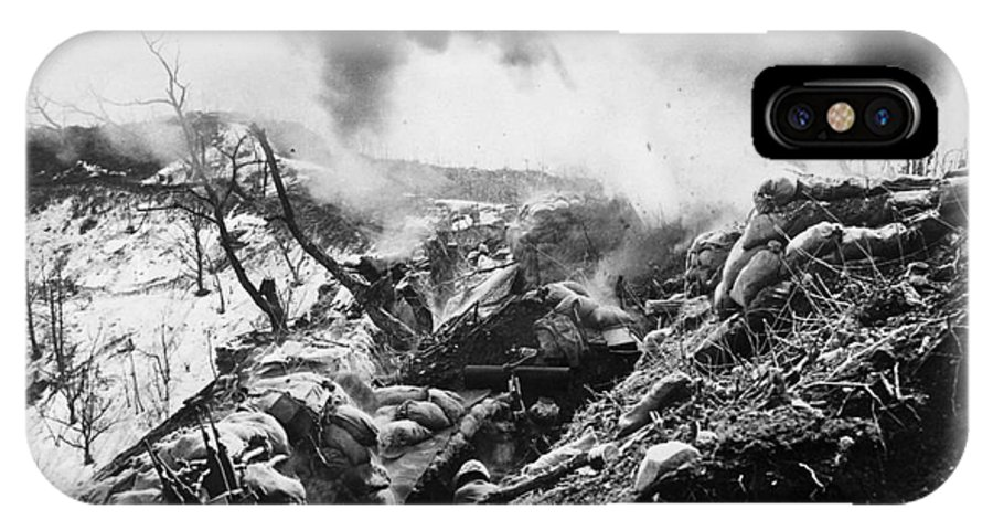 1952 IPhone X Case featuring the photograph Korean War: Trenches, 1952 by Granger