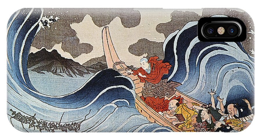 1835 IPhone X Case featuring the photograph Kuniyoshi: Oban Print by Granger