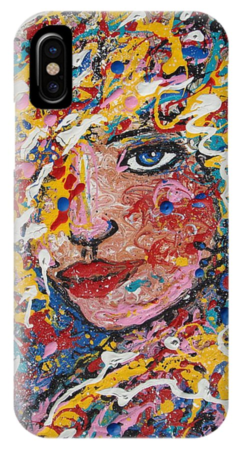 Woman IPhone Case featuring the painting Kuziana by Natalie Holland