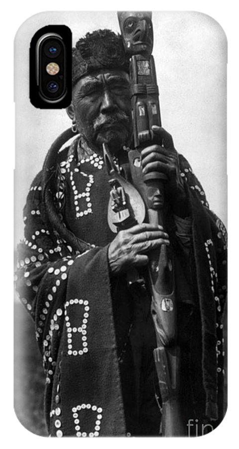 Aod IPhone X Case featuring the photograph Kwakiutl Chief, C1914 by Granger