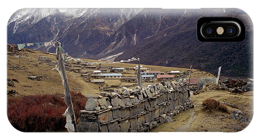 Langtang IPhone Case featuring the photograph Kyanjin Gompa by Patrick Klauss