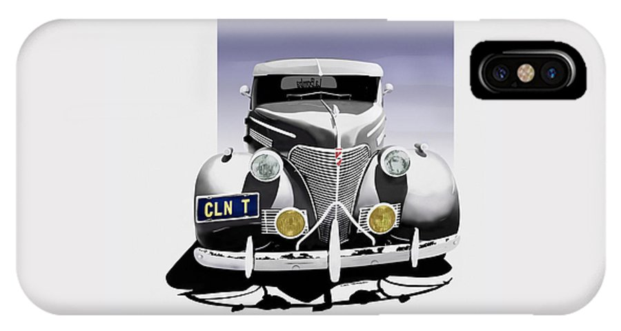 Chevrolet IPhone X Case featuring the digital art La Bomba Lowrider by Motorvate Studio