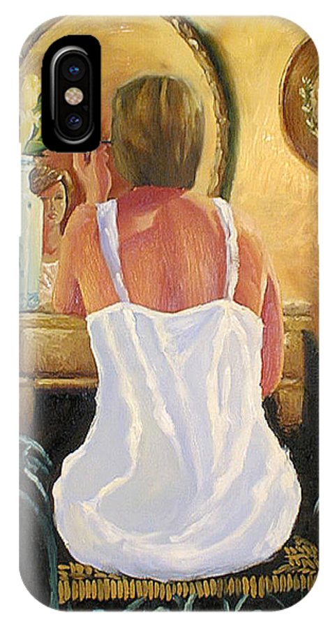 People IPhone X / XS Case featuring the painting La Coqueta by Arturo Vilmenay