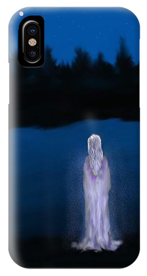 Lanscapes IPhone X Case featuring the painting La Llorona by Abel Padilla