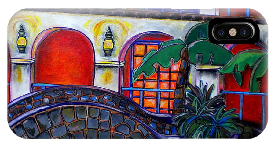 San Antonio IPhone X Case featuring the painting La Mansion Del Rio by Patti Schermerhorn