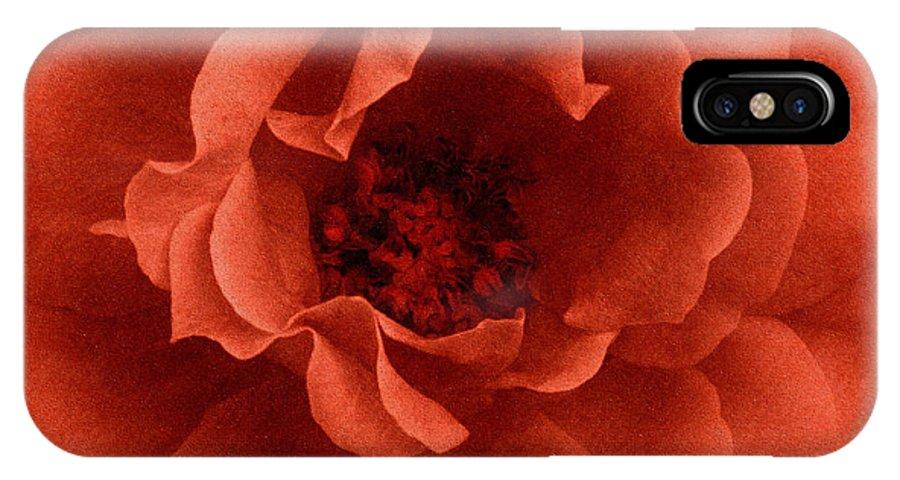 Flower IPhone X Case featuring the mixed media La Primavera by Georgiana Romanovna