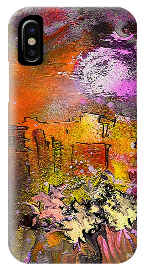 Landscape Painting IPhone X Case featuring the painting La Provence 14 by Miki De Goodaboom
